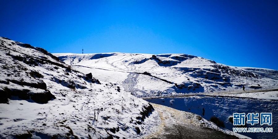 航拍云南大山包冬景 苍凉壮美如梦如画