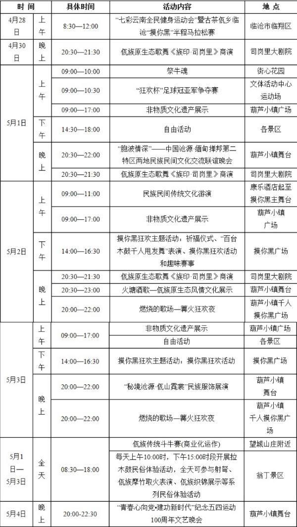 中国佤族司岗里摸你黑狂欢节5月1日开幕!