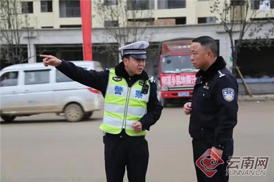 云南昭通交警为靖安新区异地扶贫搬迁工作保驾护航
