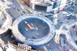 昆明首座环形天桥完工在即