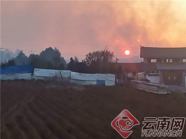 3月29日12时12分,玉龙县九河乡甸头村委会北杜吾组集体林区发生火情。徐涛 摄